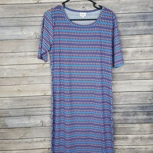 LuLaRoe Julia Dress Large